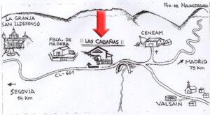 Como llegar al Alojamiento Las cabañas de Valsain.