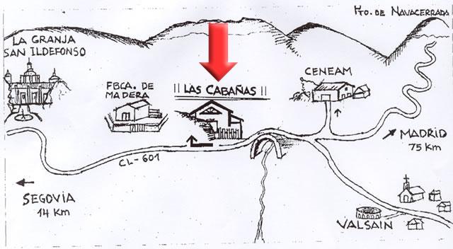 Mapa de las Cabañas Rurales de Valsaín